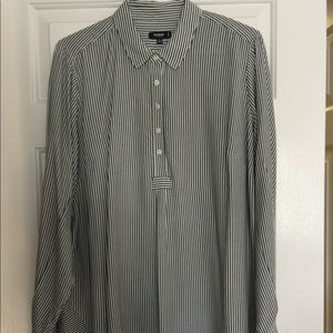Premise Ladies 1X Striped Rayon Tunic